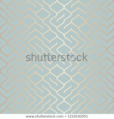 Vecteur géométrique or élément modèle Photo stock © Iaroslava