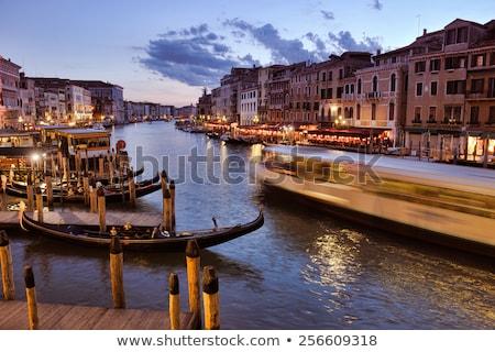 ストックフォト: Venice Beautiful Romantic Italian City On Sea With Great Canal And Gondolas