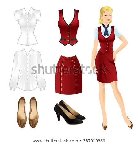 Ziemlich Dame offiziellen Anzug Kleidung Vorlage Stock foto © robuart