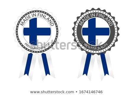moderna · vector · Finlandia · etiqueta · aislado · blanco - foto stock © kurkalukas