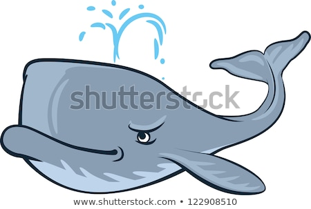 Angry Cartoon Whale Stock photo © cthoman