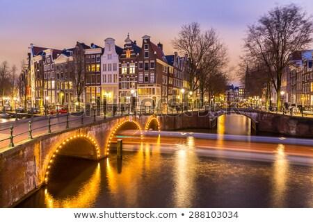 night in Amsterdam, Holland Stock photo © neirfy