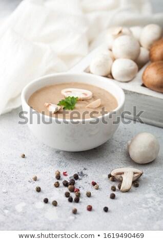 ボウル · タマネギ · スープ · 木製のテーブル · 背景 · 白 - ストックフォト © unikpix
