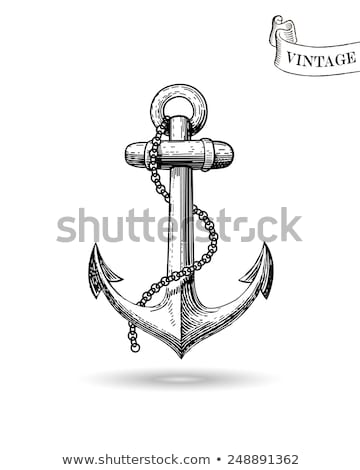 Vintage Anchor Illustration Stock photo © abdulsatarid