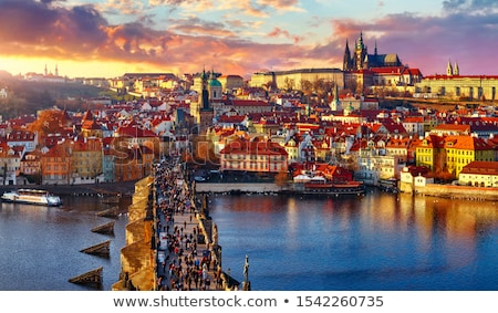 Old Prague in evening Stock photo © Givaga