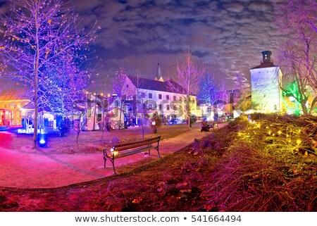 Zagreb Navidad justo advenimiento vista de la calle casa Foto stock © xbrchx