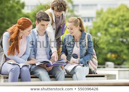 groupe · projet · personnes · élèves · travailleurs · coopération - photo stock © iko