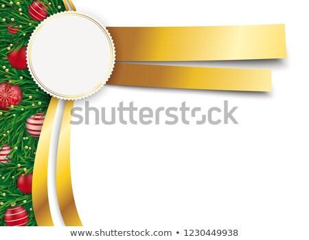 Christmas Flyer Oblong Golden Emblem Banners Stock photo © limbi007