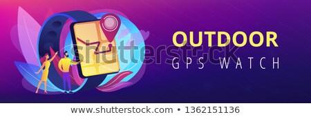 導航 旗幟 用戶 看 GPS 商業照片 © RAStudio