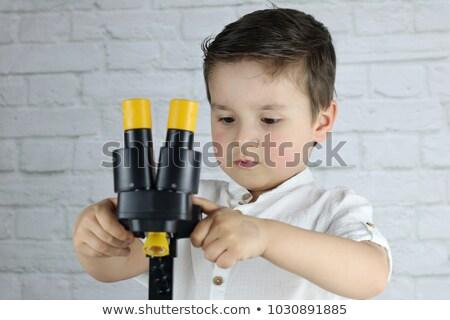 Kid мальчика геология рок эксперимент иллюстрация Сток-фото © lenm