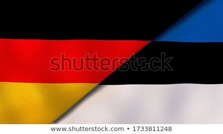 Twee vlaggen Duitsland Estland geïsoleerd Stockfoto © MikhailMishchenko