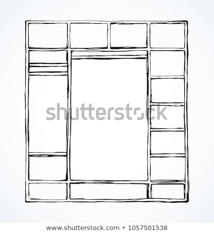Részletes ház kézzel rajzolt skicc firka ikon Stock fotó © RAStudio