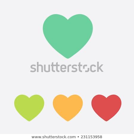 Kırmızı yeşil kalp sevmek simge vektör Stok fotoğraf © blaskorizov