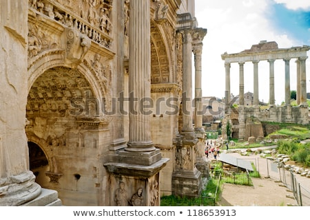 septimius severus arch in roman forum rome italy stock photo © boggy