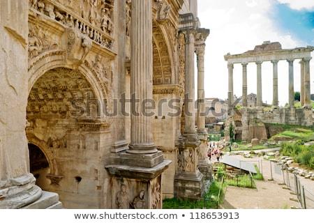 ív római fórum Róma Olaszország kilátás Stock fotó © boggy