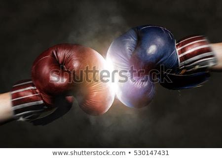 verkiezing · strijd · Rood · witte · strijd - stockfoto © lightsource