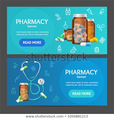 set of horizontal banners about pharmacy stock photo © netkov1
