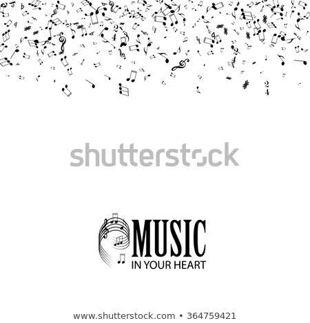 Falling notes with classical musician Stock photo © ra2studio