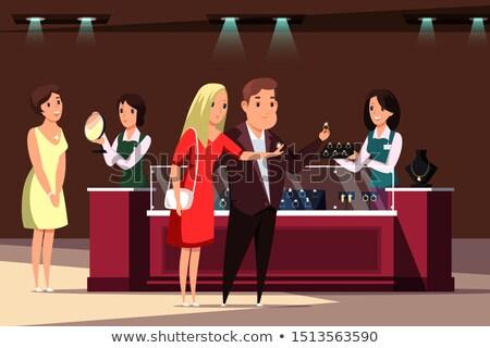 Femminile gioielli store consulente vettore shopping Foto d'archivio © robuart