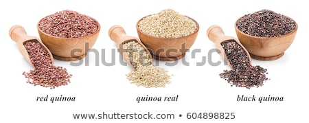 Bowls of white and red quinoa Stock photo © Alex9500