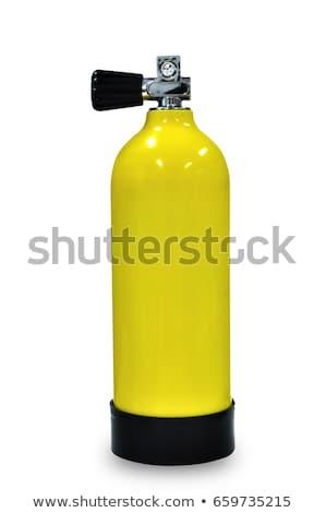 スキューバダイビング タンク 実例 5 異なる 色 ストックフォト © colematt