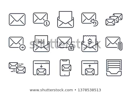 Mail with attachment icon Stock photo © angelp