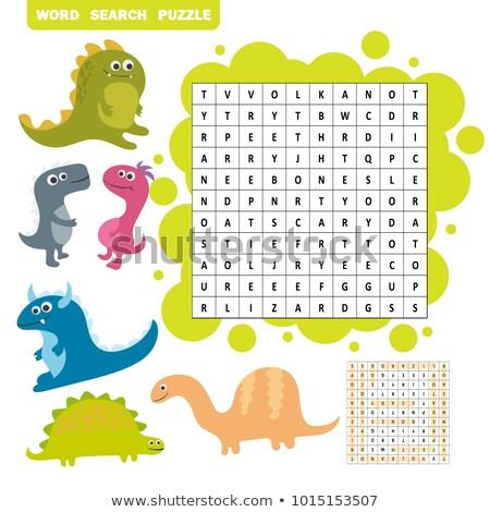 lógica · jogo · aprendizagem · inglês · encontrar · palavras - foto stock © Natali_Brill