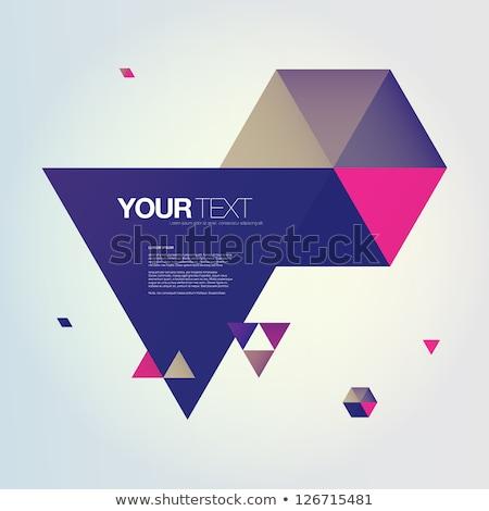 beige · Blauw · gevouwen · driehoek · brief · vector - stockfoto © cidepix