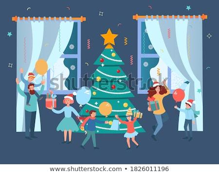 人 周りに クリスマスツリー 実例 子供 ライト ストックフォト © adrenalina