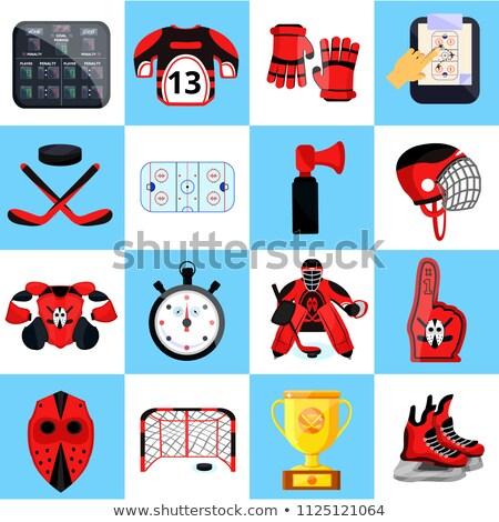 Hóquei capacete patinar assinar Foto stock © Winner