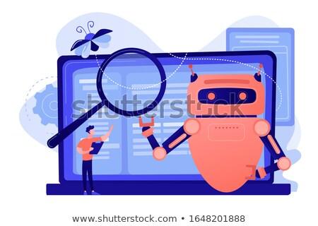 Inteligência artificial leitura robô desenvolvimento global tecnologia Foto stock © RAStudio