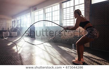 спортсмена подготовки баров молодые мужской туловища Сток-фото © pressmaster