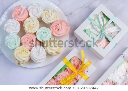 Zoete luchtig pakket snoep textuur Blauw Stockfoto © galitskaya