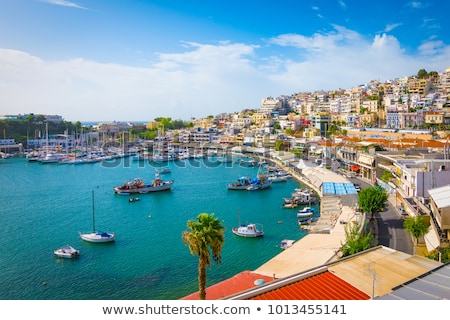 Maisons côte Grèce ensoleillée mer rive Photo stock © jossdiim