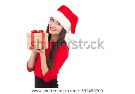 happy girl in santa costume stock photo © nyul