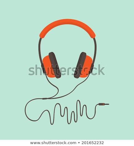 Couleur écouter audio appareil câble casque Photo stock © pikepicture
