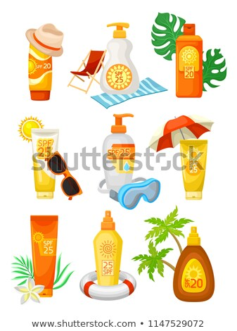 Inflatable palmsolar lotion in the Stock photo © adrenalina
