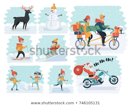 Teenager tragen Winter Kleidung Landschaft Schnee Stock foto © monkey_business