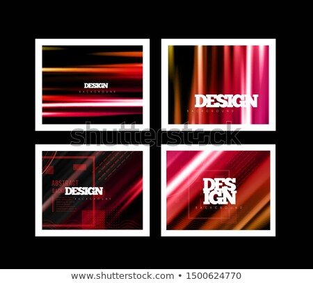Color background lines in motion on a dark background. Trend Mesh Abstraction. Vector set illustraio Stock photo © m_pavlov