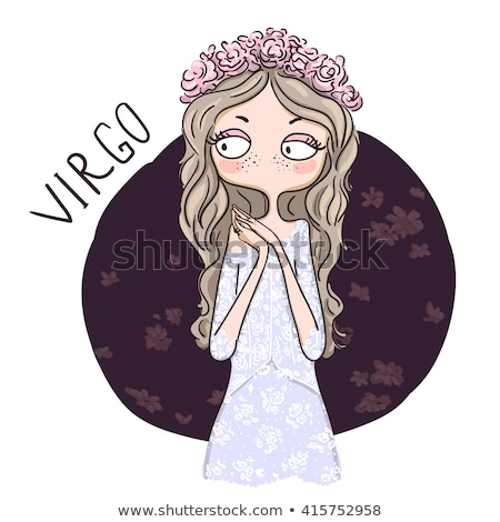 Colorful Cartoon of Virgo Zodiac Sign Stock photo © cidepix