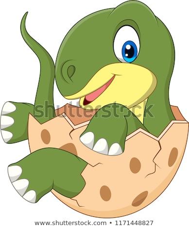 漫画 赤ちゃん 恐竜 実例 卵 面白い ストックフォト © bennerdesign