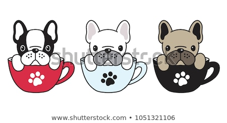 cute · cane · Cup · caffè · carattere - foto d'archivio © amaomam
