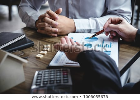 Real estate broker agent being analysis and making the decision  Stock photo © Freedomz