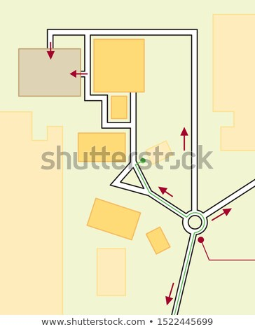 Navigation Map of Driving directions. Geographical Location, Tourist Guide, Route urban chart. Stock photo © Glasaigh