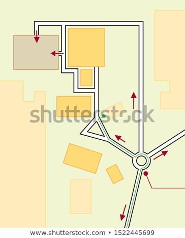 Navigasyon harita sürücü coğrafi konum Stok fotoğraf © Glasaigh
