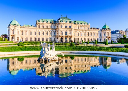 fountain in belvedere vienna stock photo © borisb17