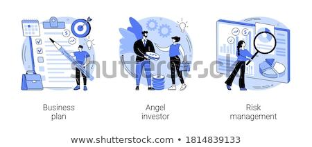 Portefeuille gestion vecteur métaphore précédent projets Photo stock © RAStudio