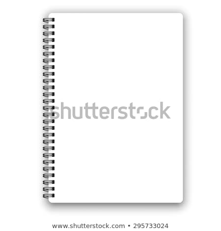 office paper empty notebook with metal spiral stock photo © robuart