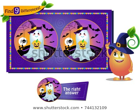 find 9 differences Halloween ghosts Stock photo © Olena