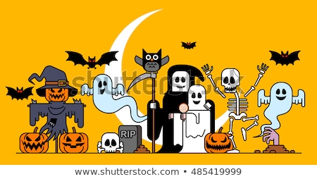 Halloween character at gravestone Stock photo © bluering